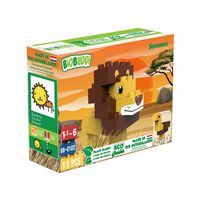 BiOBUDDi - Savanna Lion/Ostrich 2 in 1 - 11 Blocks